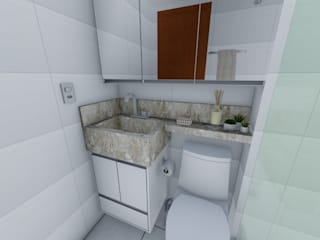 Igor Cunha Arquitetura 現代浴室設計點子、靈感&圖片