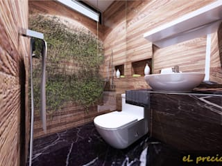 Tropical style bathroom by eL precio Tropical