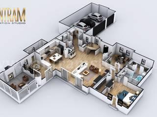 Casas ecológicas de estilo  de Yantram Architectural Design Studio, Moderno