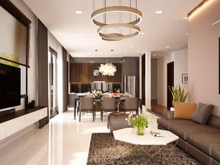 Tư vấn thiết kế nội thất phòng khách: hiện đại  by Nội Thất Prime, Hiện đại