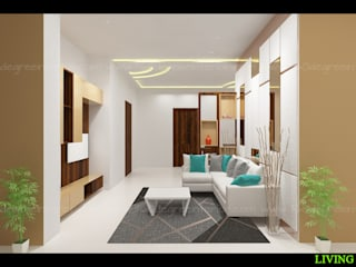 Modular Room designs Minimalist living room by 360 Degree Interior Minimalist