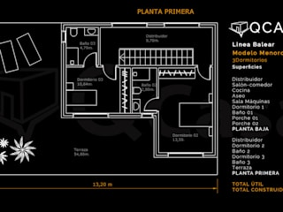 MODELO MENORCA-Aranjuez ( Campo golf).MADRID de QCASA.Madrid. Viviendas industrializadas eficientes de hormigón Moderno