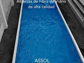 Fabricación de albercas de fibra de vidrio. de ASSOL- Albercas y servicios del sol Minimalista