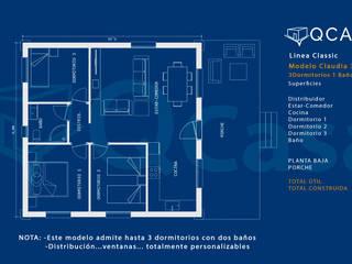 MODELO CLAUDIA. LINEA CLASSIC de QCASA.Madrid. Viviendas industrializadas eficientes de hormigón Rústico