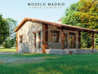 MODELO MADRID. LINEA CLASSIC de QCASA.Madrid. Viviendas industrializadas eficientes de hormigón Rústico