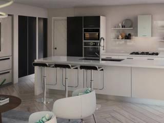 Casa Doral Cocinas de estilo moderno de Gabriela Afonso Moderno