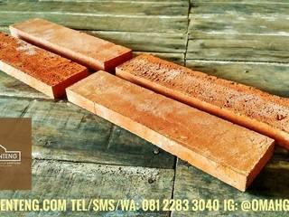 Bata Tempel - HP/WA: 08122833040 - Omah Genteng Omah Genteng Dinding & Lantai Gaya Klasik Batu Bata Brown