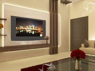 3bhk house interior Bhopal : classic  by Design Brix,Classic