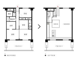 笹口SOHO の 一級建築士事務所オブデザイン