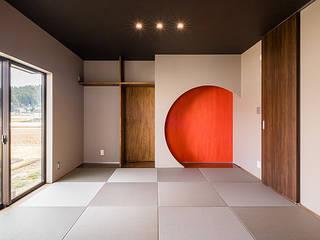 Denki House 一級建築士事務所オブデザイン 寝室照明 ブラウン
