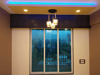 2 BHK complete interior done in Cosmos Habitate, Thane. Asian style dining room by VR Interior Designerss Asian
