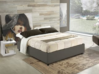 Upholstered beds sommier, also custom-made INFABBRICA BedroomBeds & headboards Leather Grey