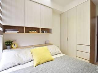 晴悅:  臥室 by BABO, 北歐風