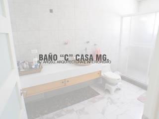 """Baño para habitación """"C"""" Baños modernos de ARQSU, Arquitectura e Interiorismo Moderno"""