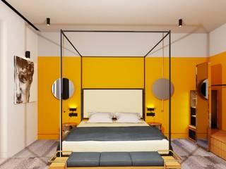 Entrada Mimarlık Mediterranean style hotels Wood Yellow
