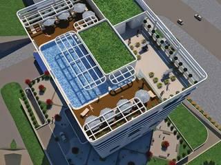 SERPİCİ's Mimarlık ve İç Mimarlık Architecture and INTERIOR DESIGN Hotel moderni Vetro Bianco