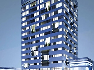 SERPİCİ's Mimarlık ve İç Mimarlık Architecture and INTERIOR DESIGN Hotel Modern Kaca Blue