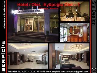 SERPİCİ's Mimarlık ve İç Mimarlık Architecture and INTERIOR DESIGN Hotel moderni Cemento Bianco