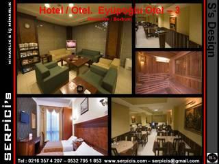 SERPİCİ's Mimarlık ve İç Mimarlık Architecture and INTERIOR DESIGN Hotel Modern Kayu Wood effect