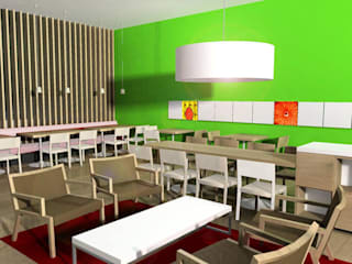 SERPİCİ's Mimarlık ve İç Mimarlık Architecture and INTERIOR DESIGN Negozi & Locali commerciali in stile tropicale Legno Variopinto