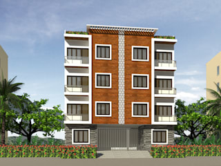 RESIDENTIAL COMPLEX AT GHAZIABAD: modern  by Voad Architect,Modern