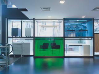 SERPİCİ's Mimarlık ve İç Mimarlık Architecture and INTERIOR DESIGN Kantor & Toko Modern Aluminium/Seng Multicolored
