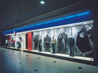 SERPİCİ's Mimarlık ve İç Mimarlık Architecture and INTERIOR DESIGN Negozi & Locali commerciali moderni PVC Blu