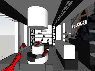SERPİCİ's Mimarlık ve İç Mimarlık Architecture and INTERIOR DESIGN Negozi & Locali commerciali moderni Legno Grigio