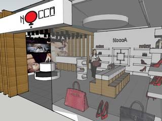 SERPİCİ's Mimarlık ve İç Mimarlık Architecture and INTERIOR DESIGN Negozi & Locali commerciali in stile rustico Legno Effetto legno