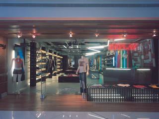 SERPİCİ's Mimarlık ve İç Mimarlık Architecture and INTERIOR DESIGN Negozi & Locali commerciali moderni Legno Effetto legno