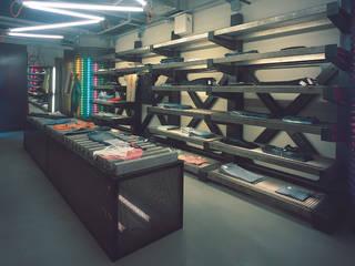 SERPİCİ's Mimarlık ve İç Mimarlık Architecture and INTERIOR DESIGN Kantor & Toko Modern Aluminium/Seng Brown