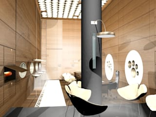 SERPİCİ's Mimarlık ve İç Mimarlık Architecture and INTERIOR DESIGN Negozi & Locali commerciali in stile minimalista Legno Marrone