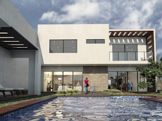 Casa en Santa Anita Casas modernas de Helicoide Estudio de Arquitectura Moderno