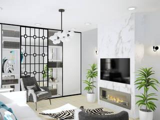 Дизайн гостиной Гостиные в эклектичном стиле от ULANOVA Эклектичный