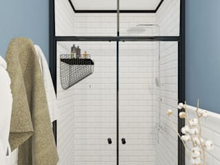 Душевая Ванная комната в эклектичном стиле от ULANOVA Эклектичный