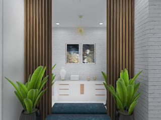 Коридор Коридор, прихожая и лестница в эклектичном стиле от ULANOVA Эклектичный