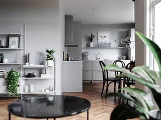 Salas de estilo escandinavo de NOreststudio Escandinavo
