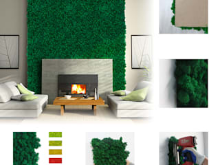 Artificial Greenery Wall For Indoor & Outdoor Landscape Ruang Komersial Tropis Oleh Sunwing Industries Ltd Tropis
