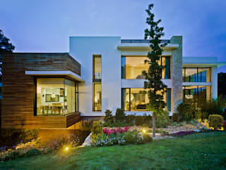 Mediterrane Häuser von Aguilar Arquitectos Mediterran