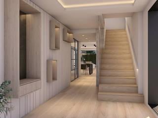 Moderner Flur, Diele & Treppenhaus von Aguilar Arquitectos Modern