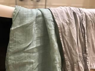 Rustykalny lniany ręcznik w kolorze Mint od NatureBed Rustykalny Len Różowy