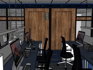 Oficinas y bibliotecas de estilo moderno de OHANA STUDIO Moderno