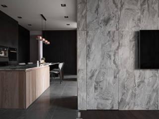 境。光 现代客厅設計點子、靈感 & 圖片 根據 質覺制作設計有限公司 現代風