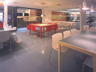 SERPİCİ's Mimarlık ve İç Mimarlık Architecture and INTERIOR DESIGN Kantor & Toko Modern Komposit Kayu-Plastik Grey
