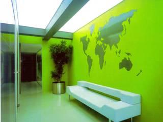 SERPİCİ's Mimarlık ve İç Mimarlık Architecture and INTERIOR DESIGN Kantor & Toko Modern Komposit Kayu-Plastik Green