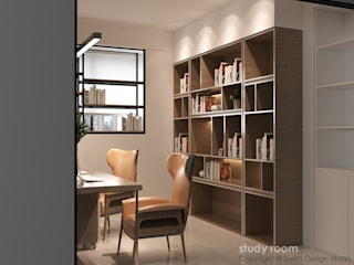 Swish Design Works Modern study/office Plywood Wood effect