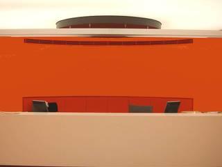 SERPİCİ's Mimarlık ve İç Mimarlık Architecture and INTERIOR DESIGN Kantor & Toko Modern Komposit Kayu-Plastik Orange