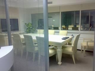 SERPİCİ's Mimarlık ve İç Mimarlık Architecture and INTERIOR DESIGN Kantor & Toko Modern Kaca Grey