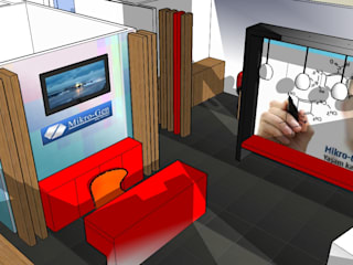 SERPİCİ's Mimarlık ve İç Mimarlık Architecture and INTERIOR DESIGN Kantor & Toko Gaya Rustic Komposit Kayu-Plastik Multicolored