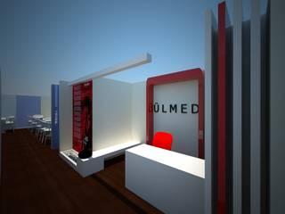 SERPİCİ's Mimarlık ve İç Mimarlık Architecture and INTERIOR DESIGN Negozi & Locali commerciali in stile rustico PVC Rosso